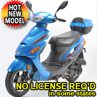 50cc Zapper Scooter Moped WO/ Pedals - Revolution Series Motor Bike