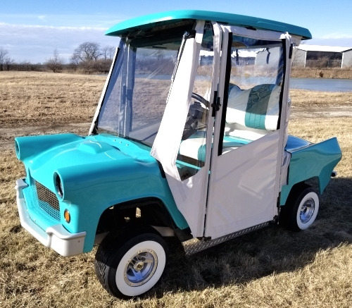 56' Thunderbird Club Car Precedent Gas Golf Cart Lifted With Enclosure on teal pull cart, room essentials metal cart, teal golf cover,