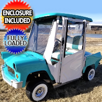 56' Thunderbird Club Car Precedent Gas Golf Cart Lifted With Enclosure Custom Rims Flip & More
