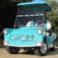 '56 Old Car Custom 48v Club Car Golf Cart