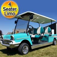 4 Seater '57 Old Car 48v Bel Air Custom Stretch Limo Club Car Golf Cart