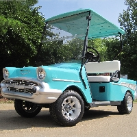 57 Chevy Custom 48v Ez Go Golf Cart
