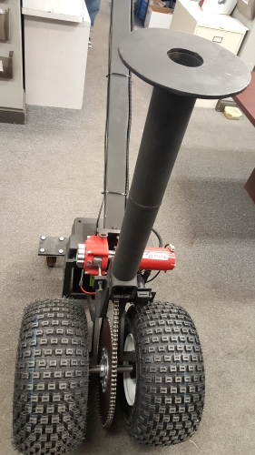 Thwheelmover M on Electric Trailer Dolly