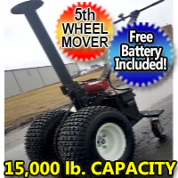 5th Wheel Power Mover Electric Powered RV Transformer Trailer Dolly - 15000lb Capacity
