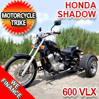 Honda 600 Shadow VLX Motorcycle Trike - Pre Owned