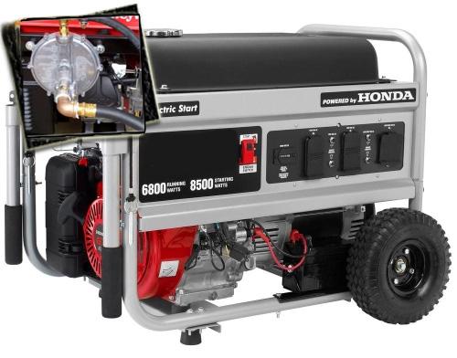 6800 Watt   8500 Starting Watt Tri Fuel Generator   Electric Start W/  Charger