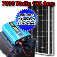 Solar Powered Generator 135 Amp 7000 Watt Solar Generator Just Plug and Play - NOT A KIT