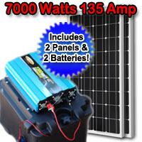 Solar Powered Generator 135 Amp 7000 Watt Solar Generator Just Plug and Play