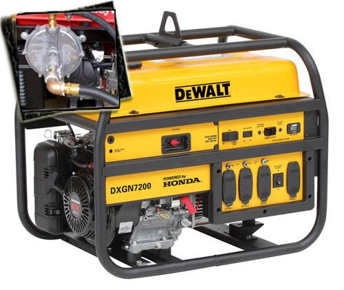 Perfect 7200 Watt   6100 Starting Watt Tri Fuel Generator   Electric Start W/  Charger