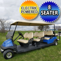 8 Passenger 48v Electric Club Car Stretch Limo Golf Cart