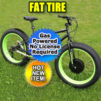 80cc Fat Tire Dewey Bike Beach Cruiser 7 Speed Mountain Bicycle With Engine