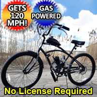 80cc Gas Bike Dewey Bicycle With Engine & Stretch Street Cruiser Bike Motorized Motor Bike