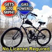 80cc Gas Bike Dewey Bicycle With Engine & Stretch Street Cruiser Bike Motorized Motor Bike