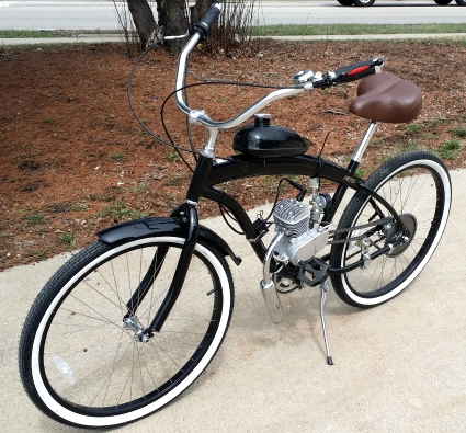 80cc Dewey Bicycle With Engine Stretch Street Cruiser Bike