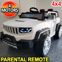 4x4 Kids Ride On Toy Power Wheel With Four Motors Includes Remotes USB & Music  - 8101