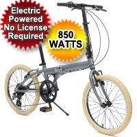 850 Watt 7 Seven-Speed Folding Electric Bicycle Bike