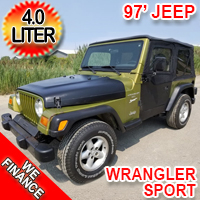 1997 Jeep Wrangler 4.0 L Sport Inline 6 New Top Seats Hitch and More!