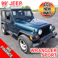1999 Jeep Wrangler 4.0 Inline 6 liter New Paint Automatic Sound Bar