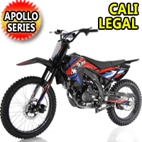 250cc Apollo Cali Legal 4 Stroke Manual Dirt Bike - APOLLO AGB-36N-250cc