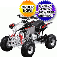 110cc Black Assassin Fully Auto 4 Stroke ATV Four Wheeler