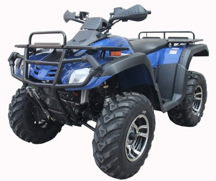 monster x 550cc atv four wheeler 4 x 4 utility atv