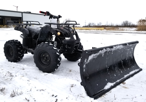 125cc fully automatic mid size atv four wheeler with plow snow