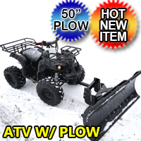 125cc Fully Automatic Mid Size ATV Four Wheeler With Plow Snow Puncher - ATV-3125XR8-U-Plow
