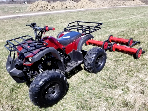 125cc atv with mower lawn muncher old fashioned 49 cut width. Black Bedroom Furniture Sets. Home Design Ideas