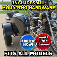 Euro RocketTeer Side Car Motorcycle Sidecar Kit - All Brands