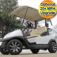 48V White Baller Edition Club Car Precedent Golf Cart
