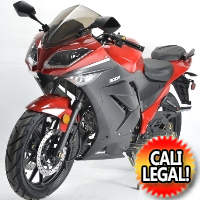 125cc Street Bike Super Samurai 4 Speed Manual Motorcycle Scooter - Cali Legal - Model 125-11GT