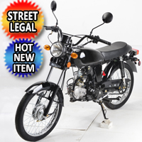 125cc Cafe Racer BoomCat Scooter Moped Motorcycle W/Manual Trans. - BD125-2