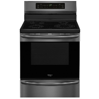 Frigidaire FGIF3036TD Stove 30 in. 5.4 cu. ft. Electric Induction Range with Self-Cleaning Oven in Smudge-Proof Black Stainless Steel - New w/Tiny Cosmetic Blemish