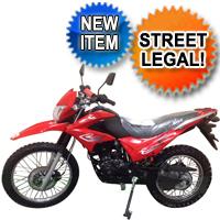Hawk 250cc Street legal Enduro Dirt Bike