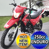 Hawk 250cc Enduro Dirt Bike 5 Speed Manual With Electric /  Kick Start