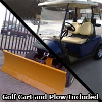 Club Car Precedent Electric 48v Golf Cart w/Plow