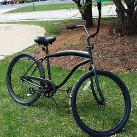 "26"" Beach Cruiser Bicycle with Rear Brakes"