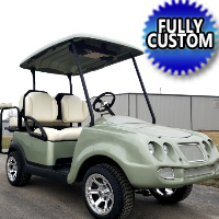 Bently Electric Golf Cart With Custom Bucket Seats, Radio, Custom Rims & More