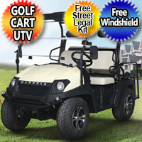 New Electric Golf Cart Hybrid UTV HJS 60v Electric Big Horn EV5 UTV Utility Vehicle