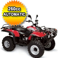 Brand New Big Horn 260SP Utility ATV Water Cooled 4 Stroke Full Size Four Wheeler