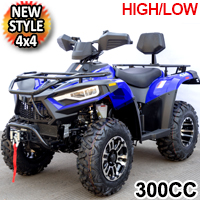 New Style MSA 300cc 4x4 Atv Fully Automatic High/Low  Four Stroke Quad - BigHorn 300 High/Low