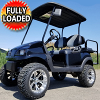 48V Electric Black Phantom Golf Cart Club Car Precedent - Fully Loaded!