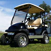 48v Black Lifted Electric Club Car Golf Cart