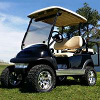 48v Black Lifted Electric Club Car Golf Cart