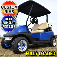 Blue Buck 48V Electric Golf Cart Club Car Precedent With Custom Rims
