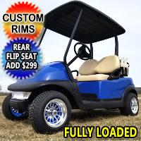 Blue Buck 48V Electric Golf Cart Club Car Precedent With Custom Rims