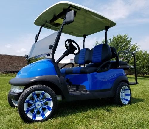 48v Electric Club Car Precedent Golf Cart Blue Demon Loaded Edition on golf cart classifieds, golf cart library, golf cart events, golf cart safety tips, golf cart security, golf cart sports, golf cart transportation, golf cart history, golf cart parking, golf cart traffic, golf cart schools, golf cart police,