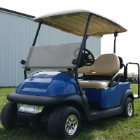 48V Blue Electric Golf Cart Club Car Precedent with Light Package