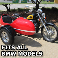 RocketTeer Side Car Motorcycle Sidecar Kit - Fits BMW Models