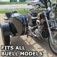 Euro RocketTeer Side Car Motorcycle Sidecar Kit - All Buell Models